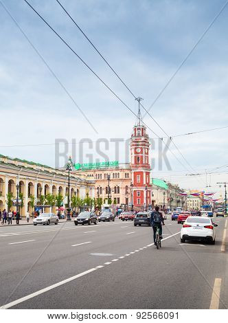 Nevsky Prospect, Vertical Cityscape, Patarsburg
