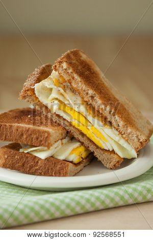 Fried Egg Sandwich On Whole Grain Toast