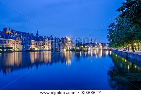 Binnenhof Palace, Place Of Parliament In The Hague, Netherlands