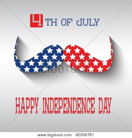 Happy independence day card United States of America, 4 th July.