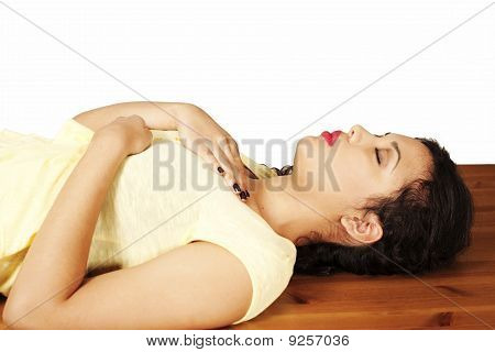 Reiki therapy, hands position heart