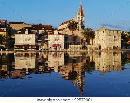 The historic village Milna on Brac