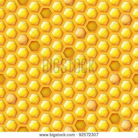 Honey Hexagon Seamless Pattern