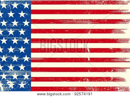 An horizontal american grunge flag for you.