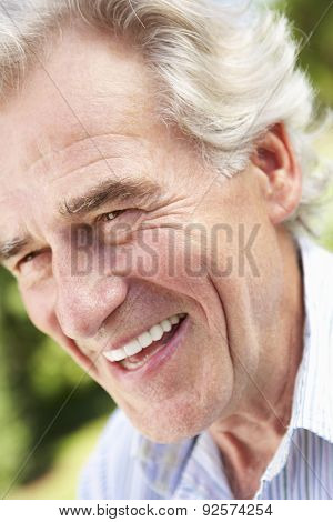 Head And Shoulders Portrait Of Smiling Senior Man