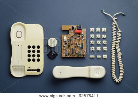 Old Home Telephone Components