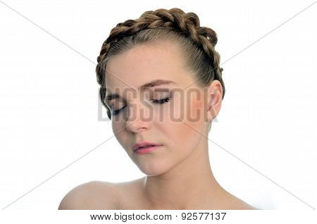 Model With Closed Eyes