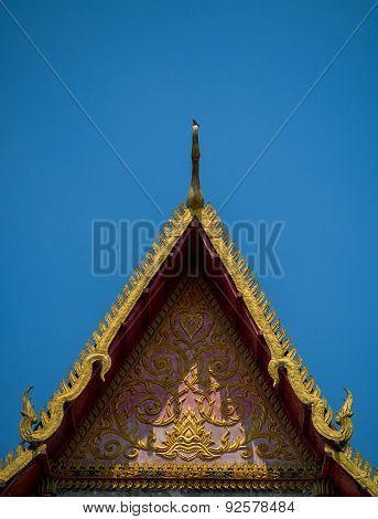 Thai style pattern decorative in temple.