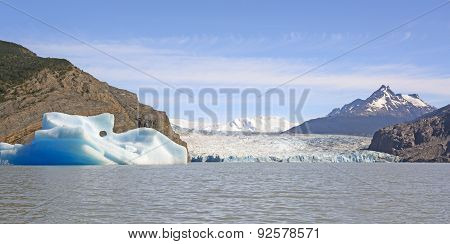 Iceberg, Glacier And Glacial Lake