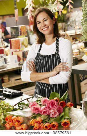 Portrait Of Female Florist In Shop
