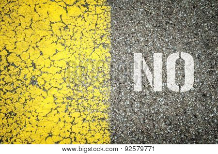 No Stencil Print On The Grunge Asphalt Background
