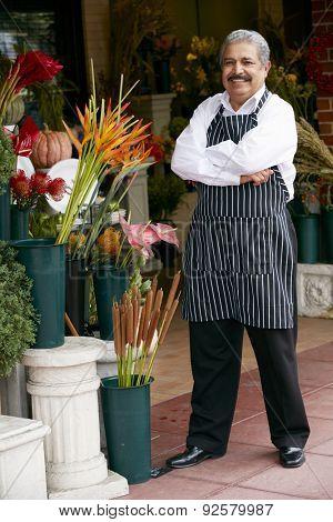 Portrait Of Male Florist Outside Shop