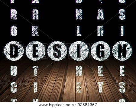 Marketing concept: word Design in solving Crossword Puzzle