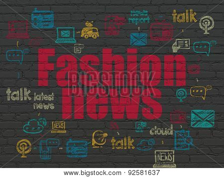 News concept: Fashion News on wall background