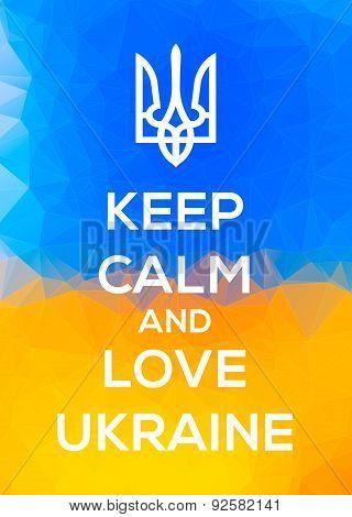 Ukranian Trident Patriotic Keep Calm Illustration