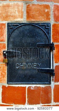 Cast Iron Chimney Door
