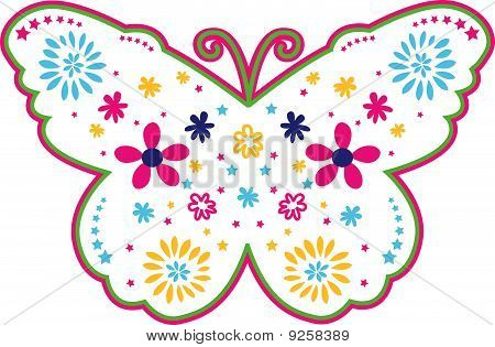 Butterfly Flower Outline