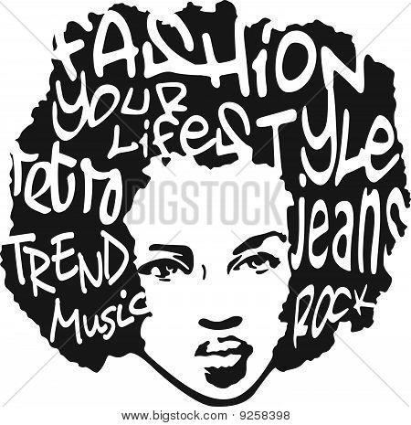 retro man typography illustration