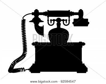 Illustration Of A Retro Phone