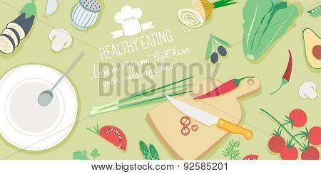 Food and cooking banner - Healthy eating