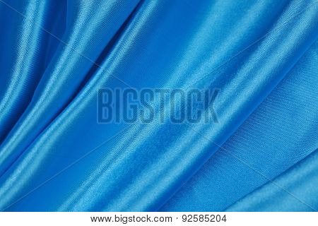 Blue Silk Cloth Of Abstract Backgrounds