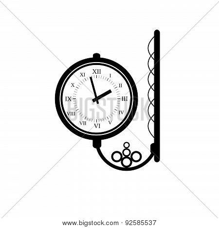 Clock Antique Black Vector