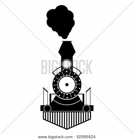 Train Antique Black Vector