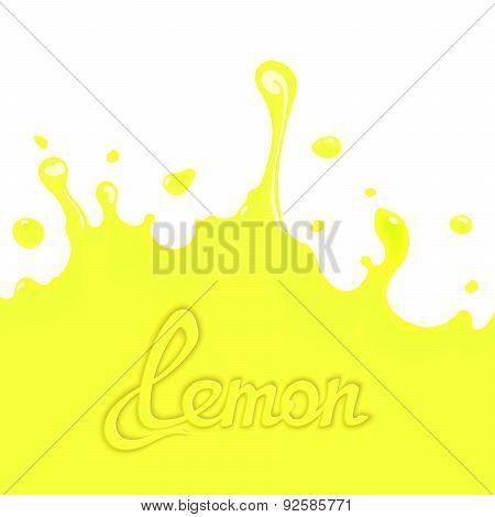 Lemon juice splash