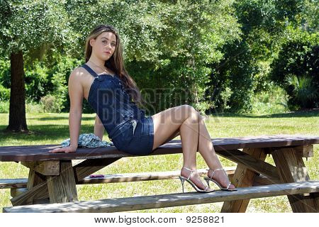 Beautiful Teen Girl Outdoors