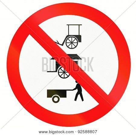 No Rickshaws And Carts In Indonesia