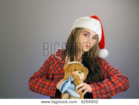 Teen Girl Santa's Helper