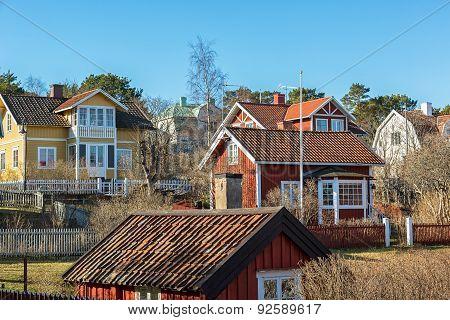 Stockholm archipelago village.
