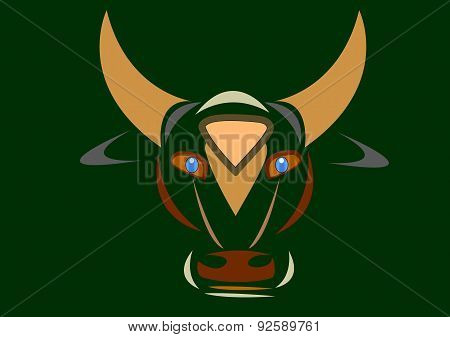 The head of a bull