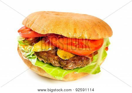 realistic looking hamburger