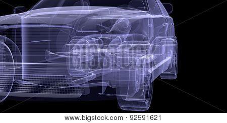 X-ray of car model