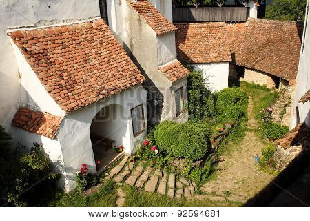Medieval Interior Court In Transylvania