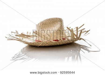 Brazilian Hat for Junina Party on white background