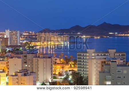 View Of La Manga At Night
