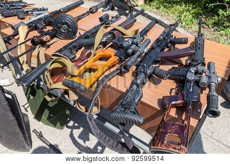Russian Weapons. Samples Of Russian Small Arms