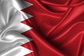 foto of bahrain  - Realistic wavy flag of Bahrain as background - JPG