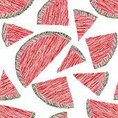 pic of watermelon slices  - Watermelon pattern - JPG