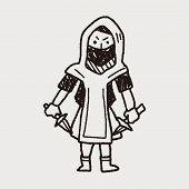 picture of ninja  - Ninja Doodle - JPG
