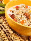 foto of cereal bowl  - Bowl of cereal breakfast - JPG