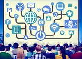 pic of social system  - Connecting Internet Online Social Media Social Network Concept - JPG