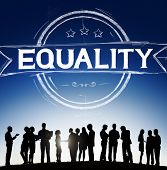 stock photo of morals  - Equality Balance Discrimination Equal Moral Concept - JPG