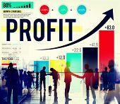 foto of accumulative  - Profit Finance Data Analysis Money Accumulation Concept - JPG