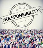 stock photo of responsibility  - Responsibility Reliability Trust Liability Trustworthy Concept - JPG