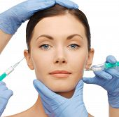 picture of lip augmentation  - health and beauty concept  - JPG