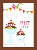 foto of ice cream parlor  - Beautiful flyer - JPG