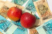 Постер, плакат: Apple и деньги